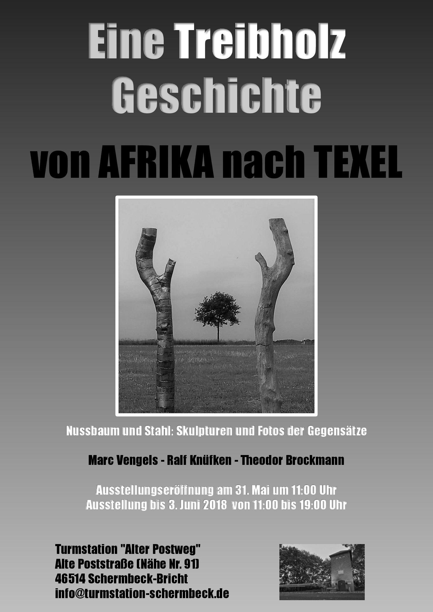 Kunstausstellung: Eine Treibholz Geschichte von Afrika nach Texel