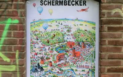 "Wimmelbild ""The Schermbecker"" ziert nun alte Turmstation"